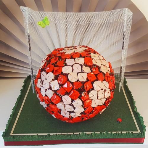 """Saldainių puokštė """"Futbolo kamuolis"""""""