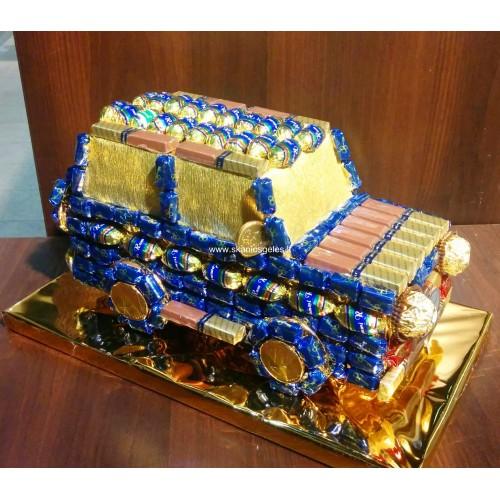 """Puokštė iš saldainių """"Jeep-2"""""""