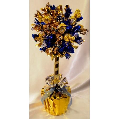 """Laimės medis iš saldainių """"Auksas ir šokoladas"""""""