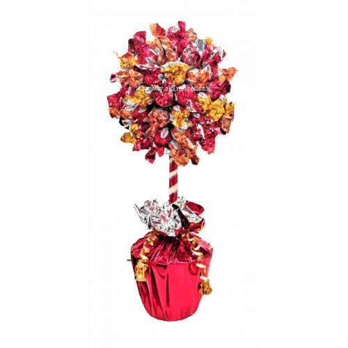 """""""Saldus medis"""" laimės medis iš saldainių"""