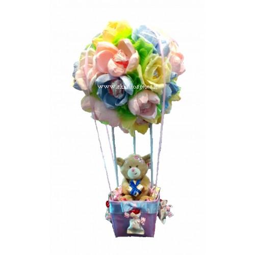 Oro balionas - saldainių kompozicija