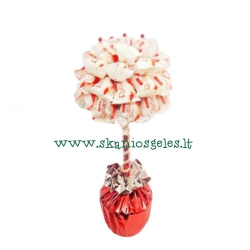Raffaello švelnumas- saldainių medis Skanios gėlės