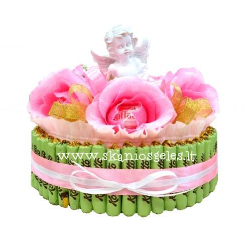Angel - tortas iš saldainių