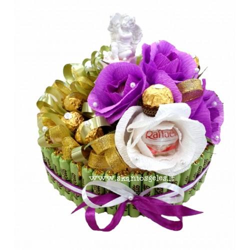 Myliu - tortas iš saldainių