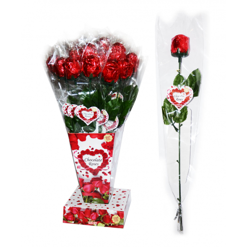 Šokoladinė rožė 1 vnt