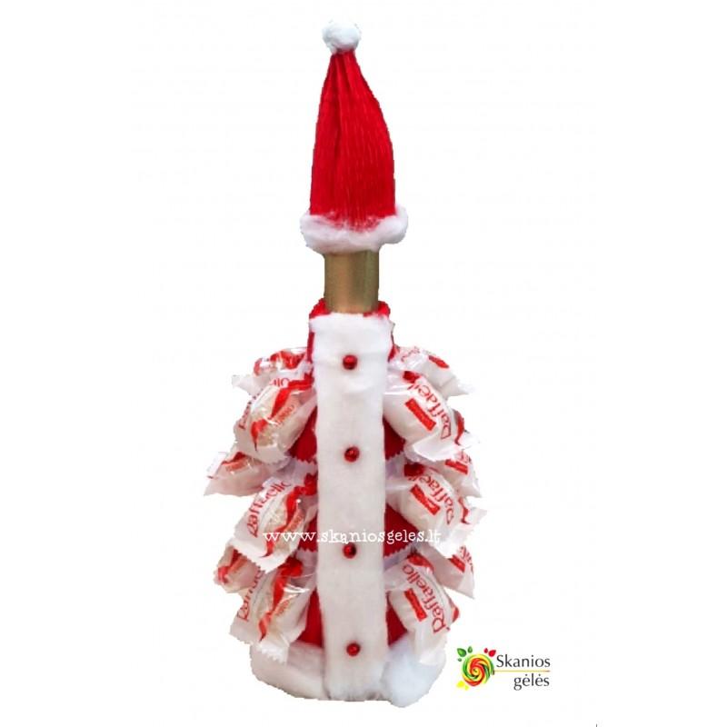 Šaltis - kalėdinis butelio papuošimas