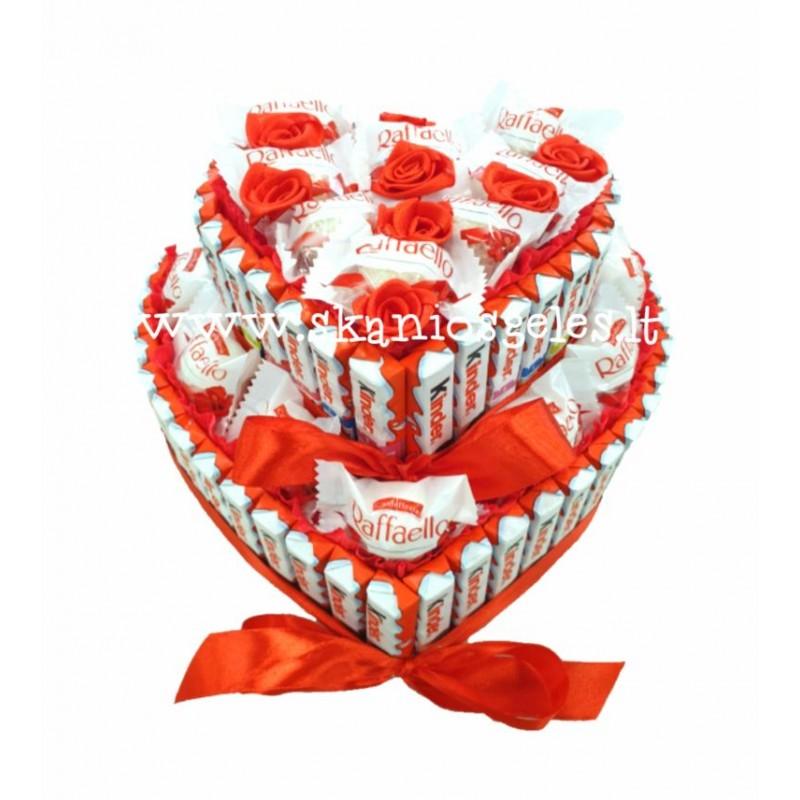 Mylėk - tortas iš saldainių
