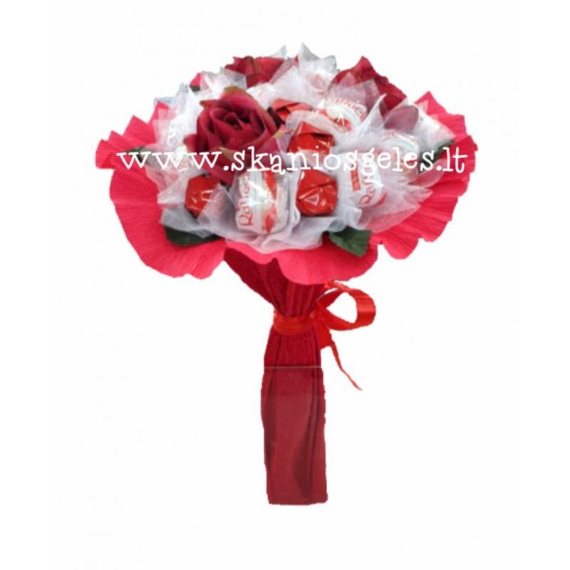Meilės diena - puokštė iš saldainių