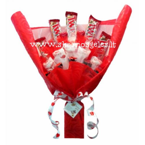 Grand Luxury - 5 puokštė iš saldainių