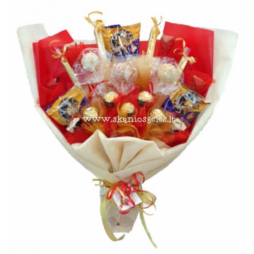 Pops - puokštė iš saldainių