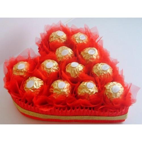 Širdelė mano - puokštė iš saldainių