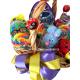Saldainių rojus dovanų krepšelis iš saldainių