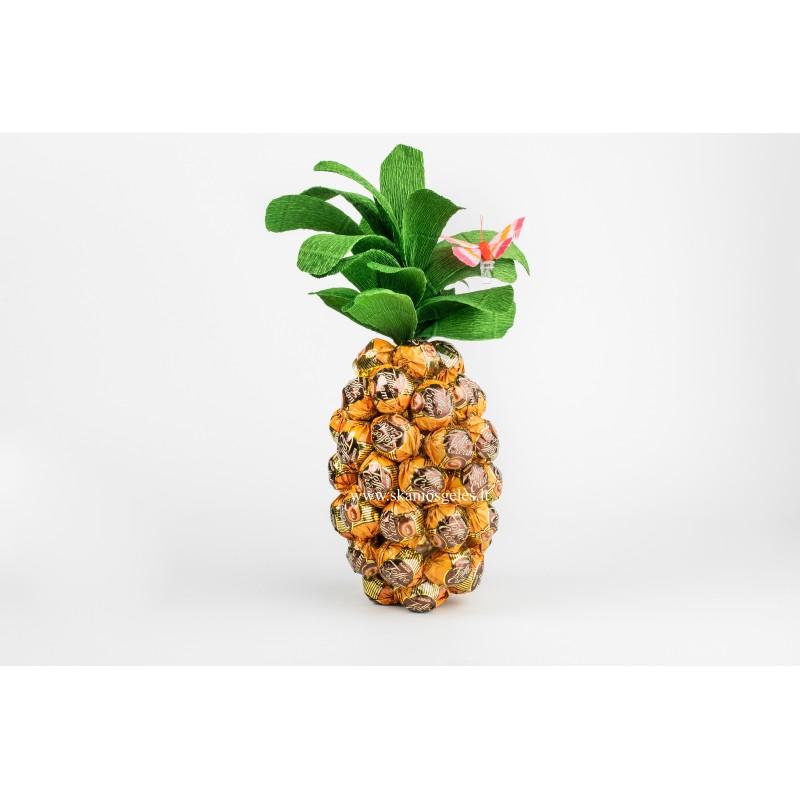 Toffee Cream - ananasas iš saldainių Skanios gėlės