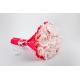 Raudona Raffaello - puokštė iš saldainių Skanios gėlės