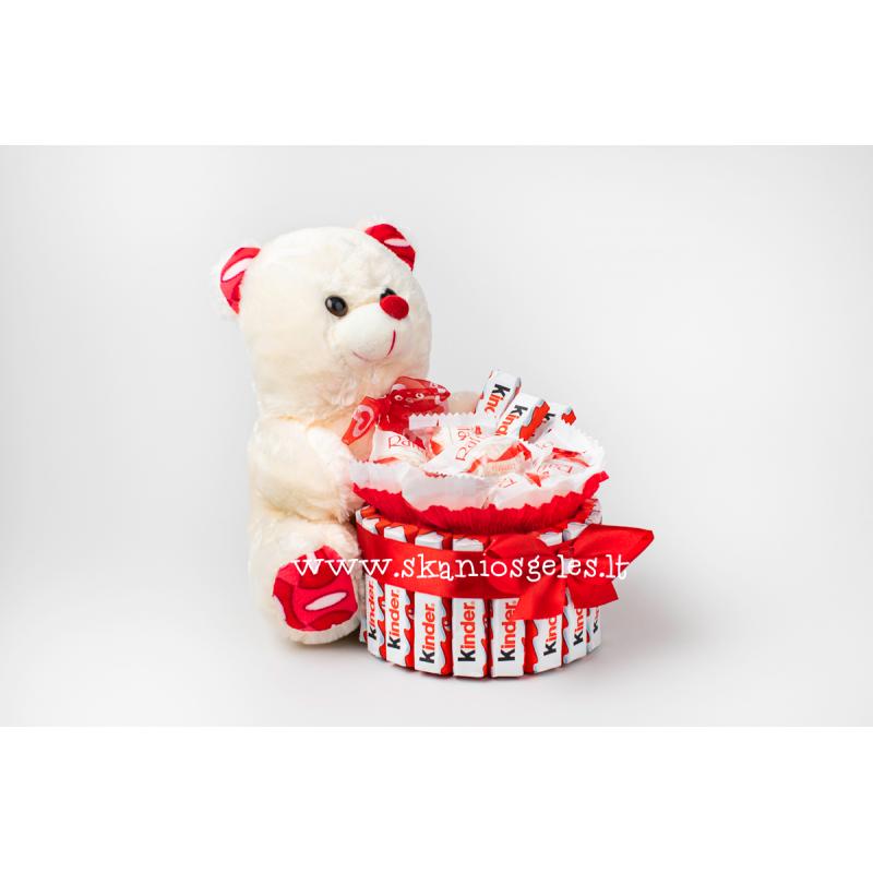 Miela dovana-2 - saldainių kompozicija