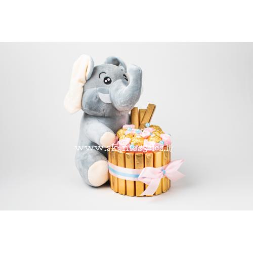 Drambliuko svajonė - tortas iš saldainių