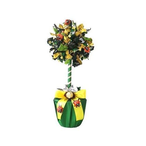 Medis iš saldainių Augimas Skanios gėlės