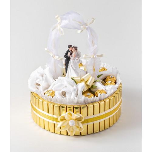 Meilė - puokštė iš saldainių