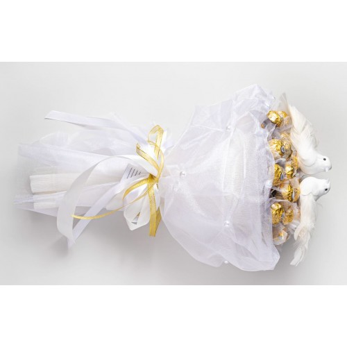 Vestuvių magija - puokštė iš saldainių Skanios gėlės