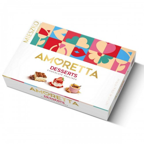 Amoretta Desserts 276 g - šokoladiniai saldainiai Mieszko
